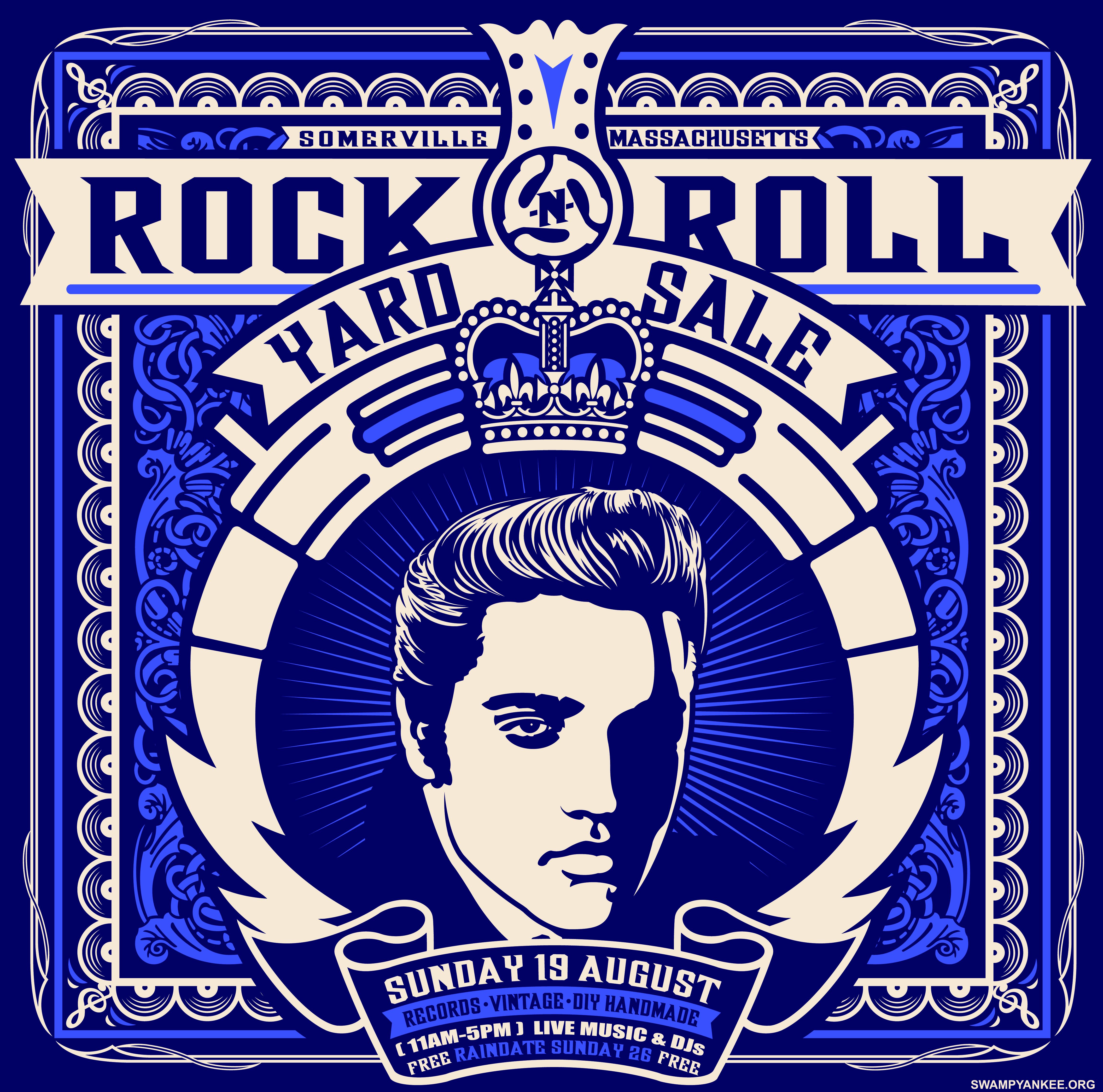 Rock n roll poster design - August