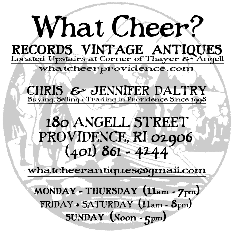 What Cheer Records Antiques Vintage Hours Address Phone Number Contact Information in Providence, RI Rhode Island