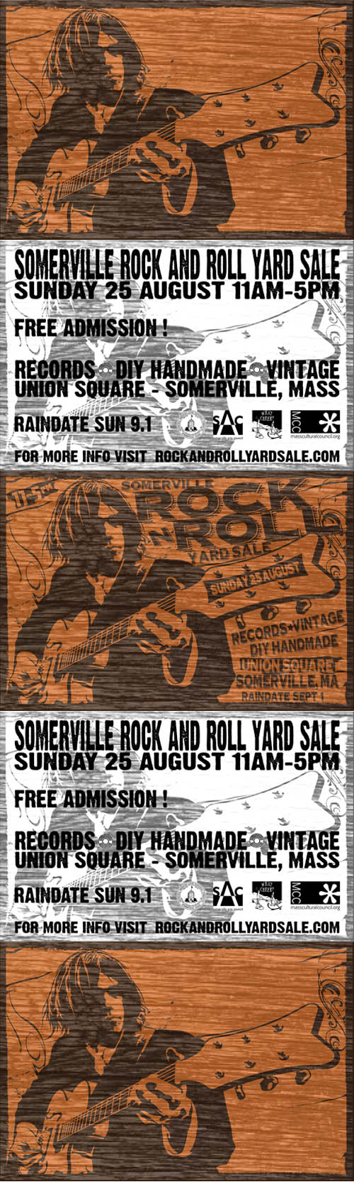 Somerville Rock And Roll Yard Sale 2013 Neil Young Poster