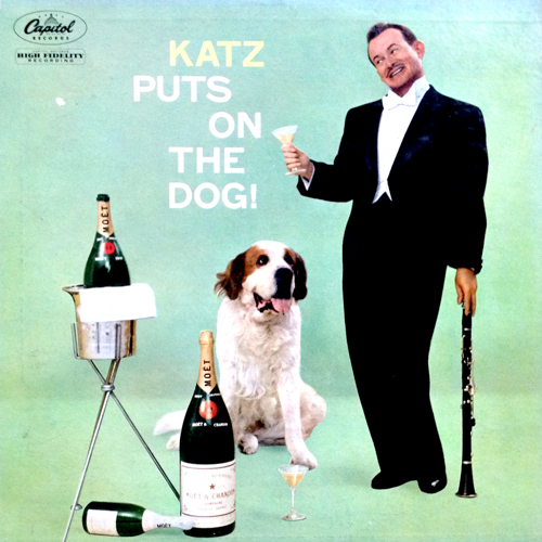 Mickey Katz Puts On The Dog LP Cover with St. Bernard