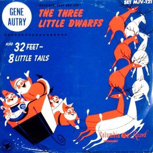 get gene autry the three little dwarfs 78rpm christmas record with picture sleeve from what cheer in providence (cover)