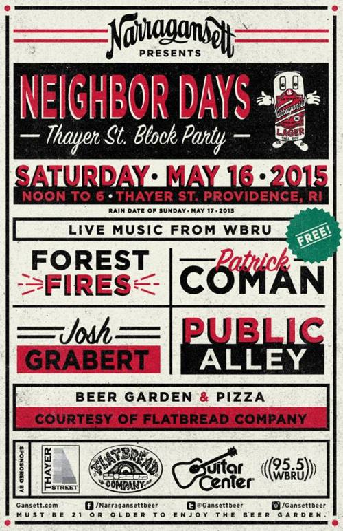thayer street block party poster