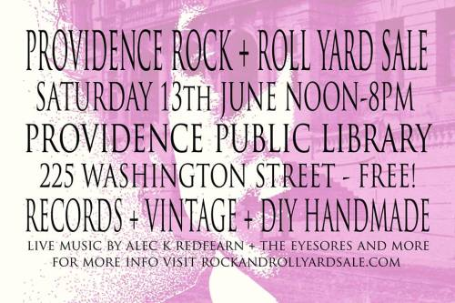 june 13th 2015 providence public library rock and roll yard sale details
