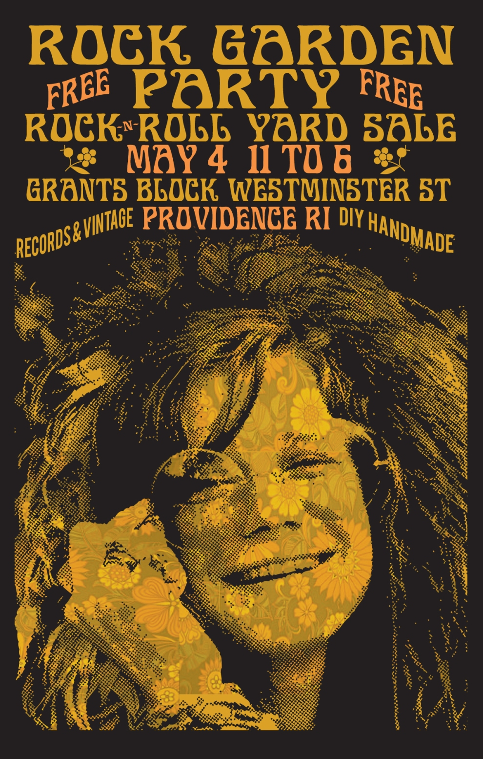 the Providence Rock And Roll Yard Sale 5.4.19 at the Rock Garden Party
