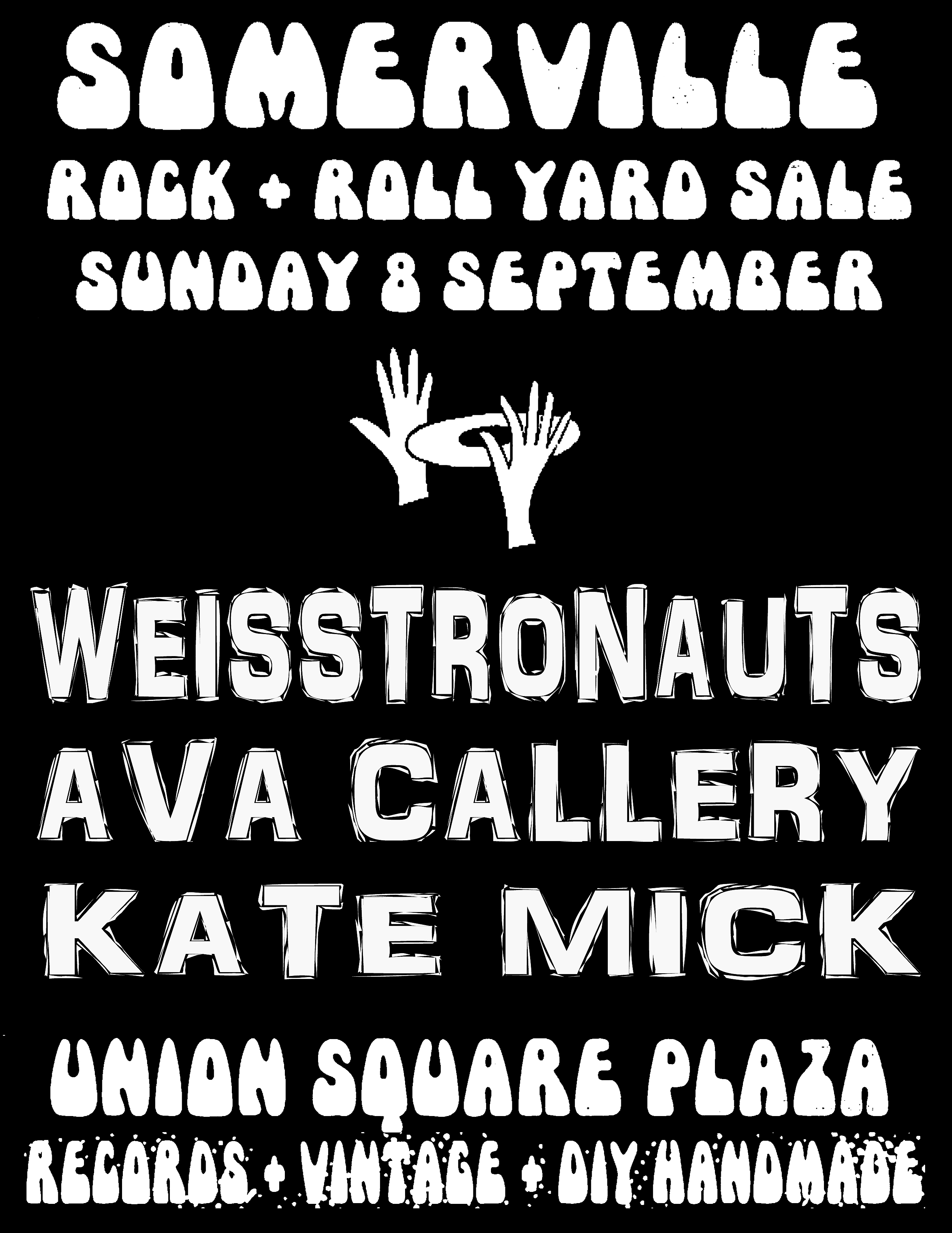 Somerville Rock And Roll Yard Sale Sunday 8th September 2019 Band Poster
